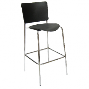 BC1B - (750mm Height) - Polypropylene seat and backrest with fully welded chrome frame