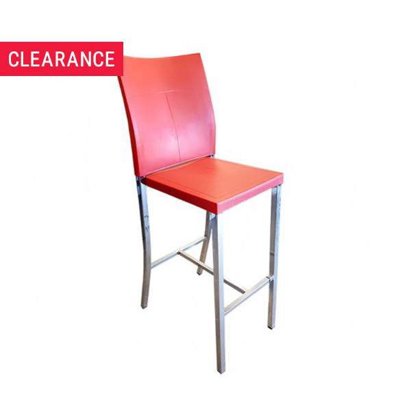 Deco Bar Stool in Red - Clearance Item