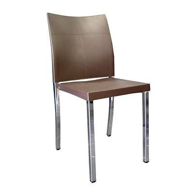 Deco Chair - Polypropylene Dining Chair in Dark Brown