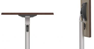 Gyro folding table base