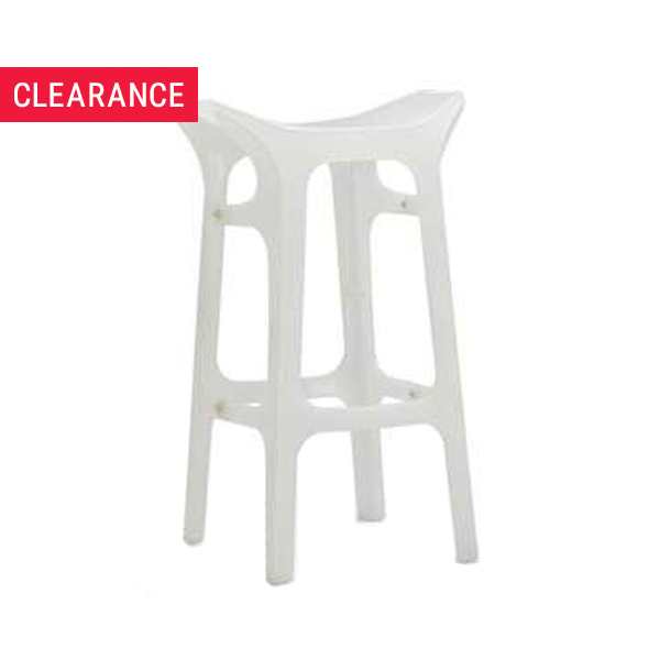 Hype Bar Stool in White - Clearance