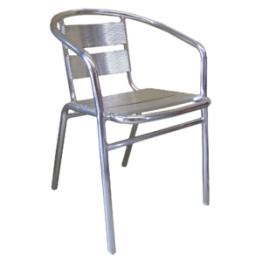JZ001CA - aluminium chair with fully-welded aluminium frame