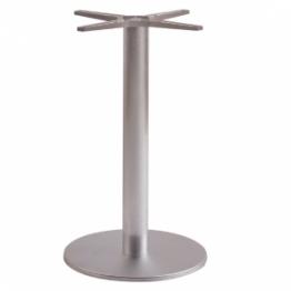 Oslo Round Table Base - Brushed stainless steel base