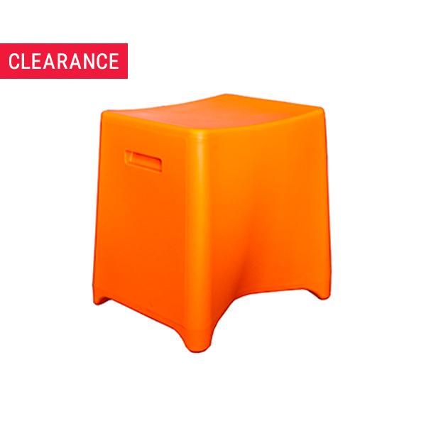 Rumble Low Stool in Orange - Clearance Item