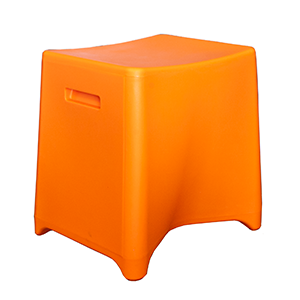 Rumble - Polypropylene finish (rotary mould) in orange