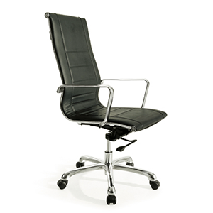 Stylus High Back Executive Office Chair upholstered in Black PU