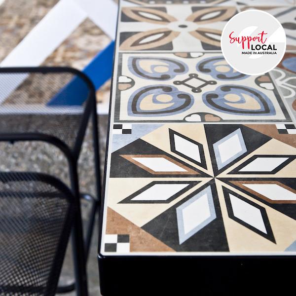 Custom Made Tiled Table (Australia Made)
