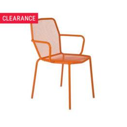 Trevi Arm Chair in Mandarin - Clearance
