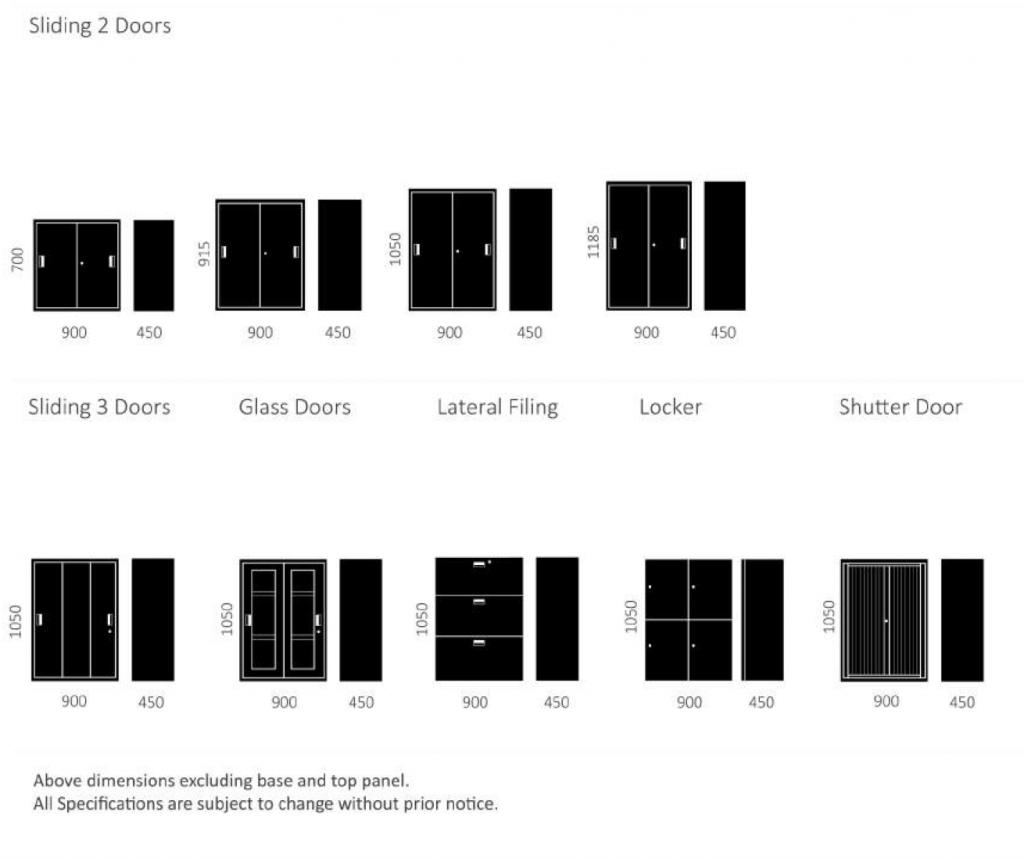 MEDIX Sliding Door Dimensions & Options