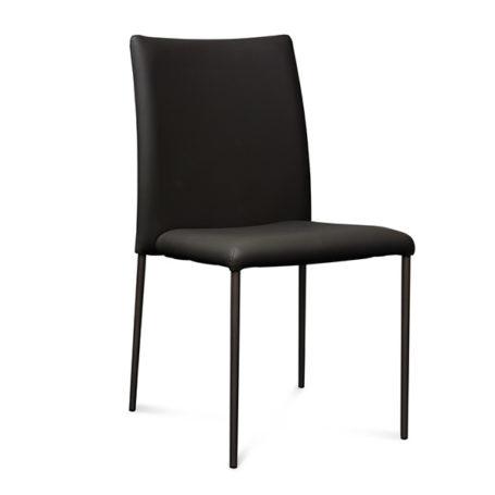 Lagos Chair in Black Vinyl