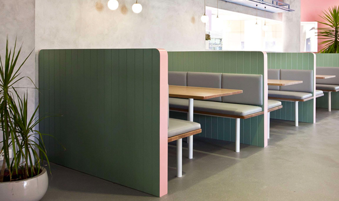 Bermuda, ECU Joondalup - Joinery of Booth Backrest Partition