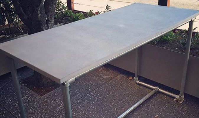 The Globe - Polished Concrete Scaffolding Table