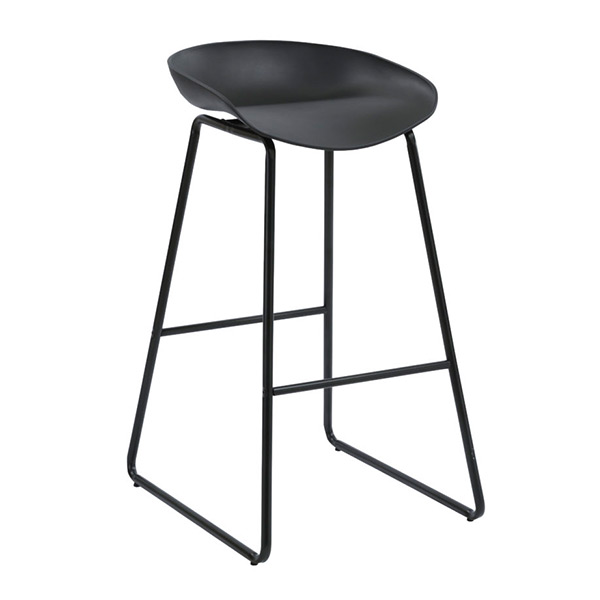 Aries Bar Stool with Black Seat