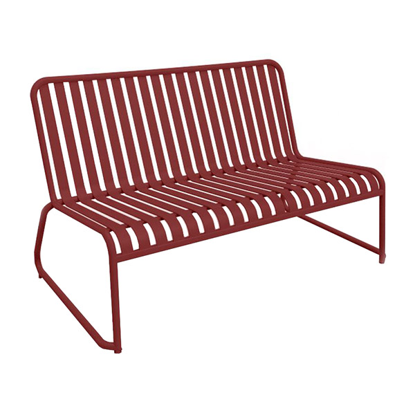 Brighton 2-Seater Sled Lounge - Matte Red
