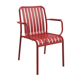 Brighton Arm Chair - Matte Red