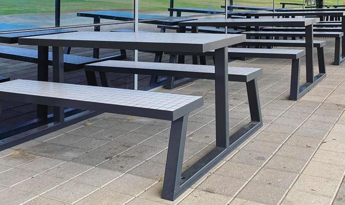 Thompkins Park - Custom A-Frame Picnic Bench