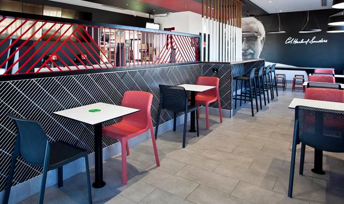 KFC Northam - Compact Laminate Top in Laminex Polar White