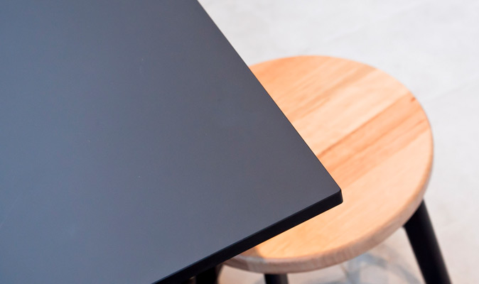 Artem Coffee - Compact Laminate Top with Maica Invisible Matte Black