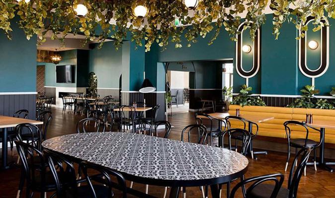 The Como Hotel - Custom Design Communal Tiled Table