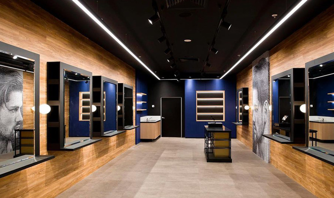 Barber Nation - Custom Joinery Design Counter