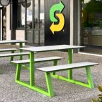 Subway East Vic Park - Custom A-Frame Picnic Bench