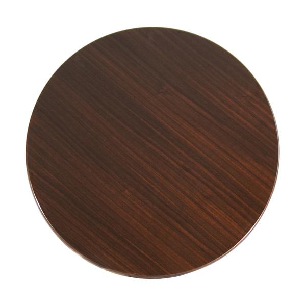 Round Isotop Table Top - Dark Walnut