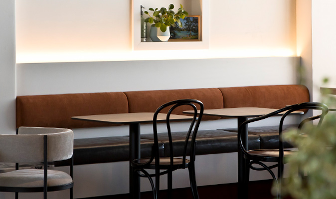 St. Brigid Bar Doubleview - Upholstery for Custom Banquette Seating