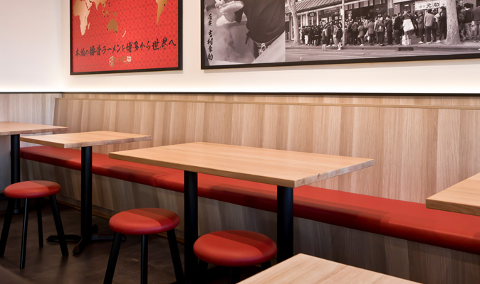 Hakata Gensuke Northbridge - Uphosltery for Custom Made Banquette Seating