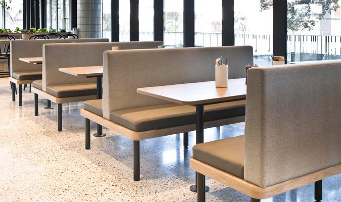 8 Yolk Cafe Belmont - Custom Made Booth Seating