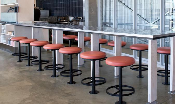 Jetty Bar & Eats Freo - Custom Joinery of Fixed Bar Stools